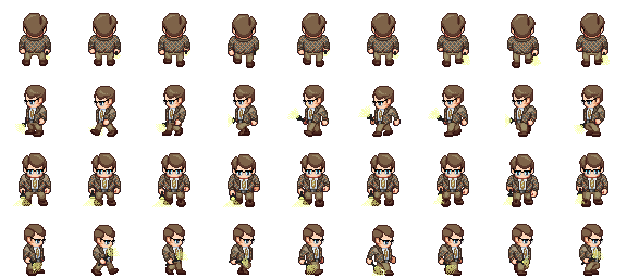 sprite sheet png walking