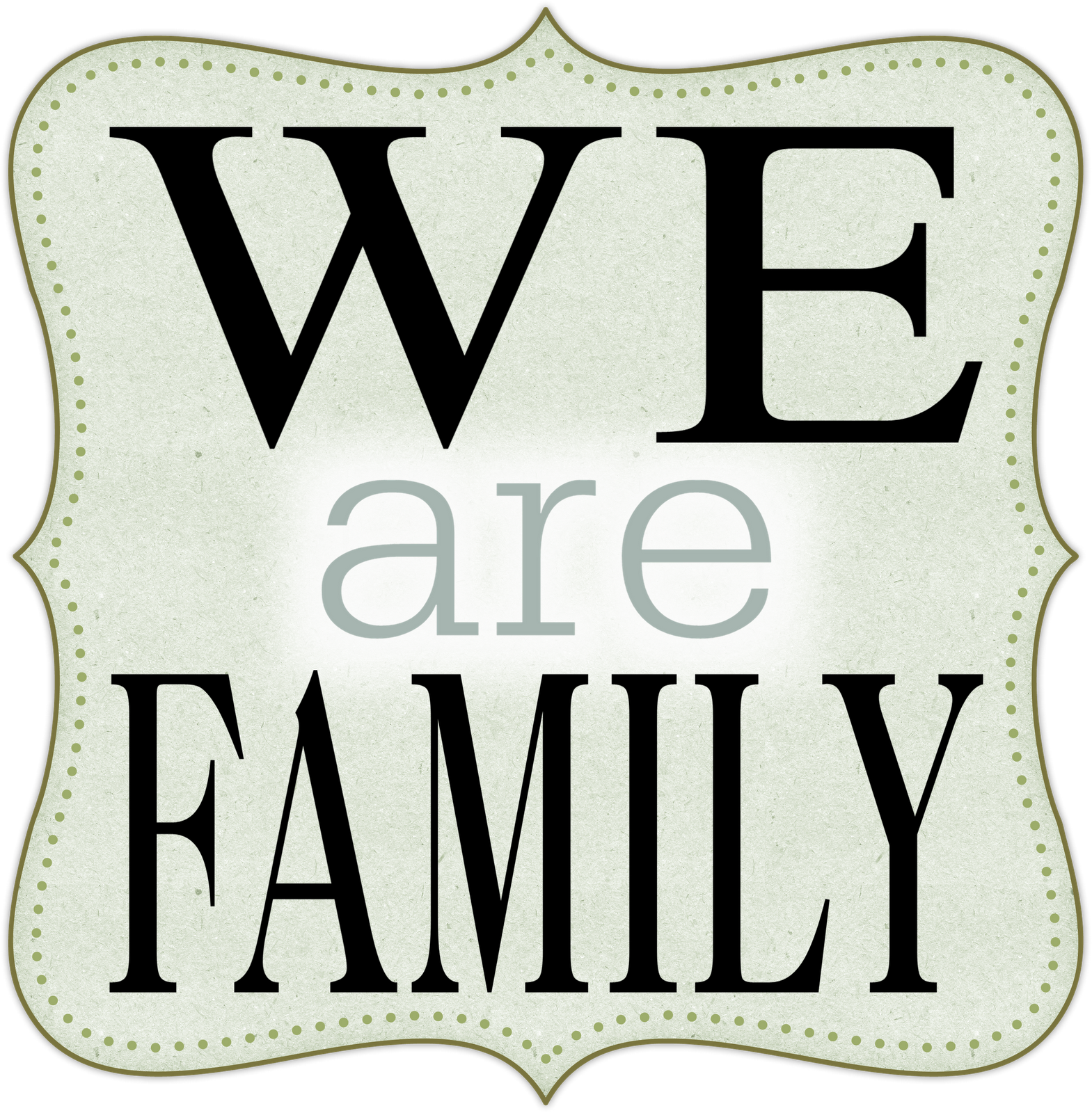 Unity transparent word art. Family banner library
