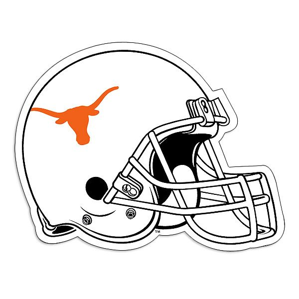University clipart kid. Texas longhorns quot helmet