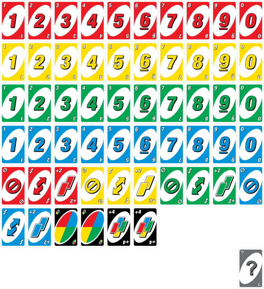 Uno cards png. Deck by wackosamurai on