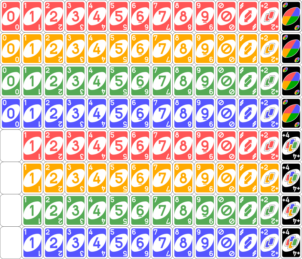 Uno cards png. File deck svg wikimedia