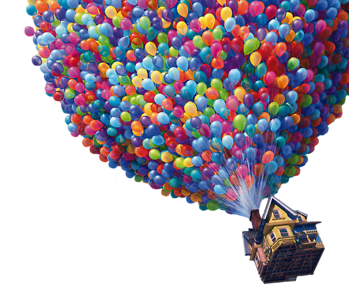 Up balloons png.