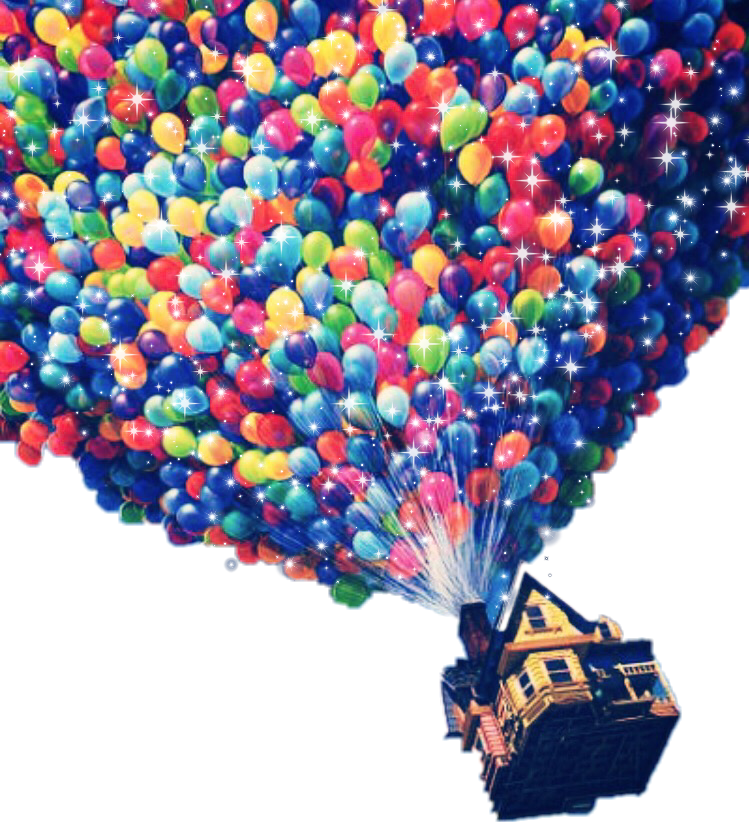 Up balloons png. Freetoedit fun sticker by