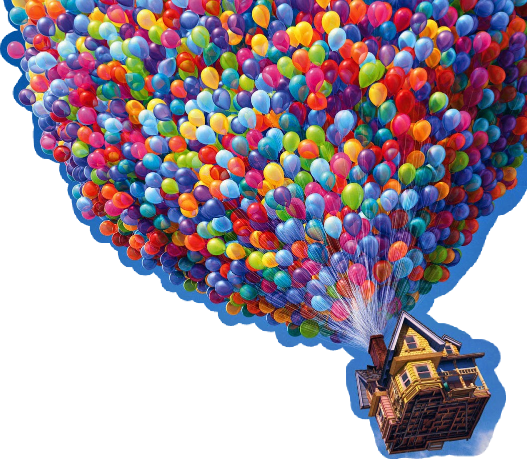 Up balloons png. Disney pixar balloon clouds