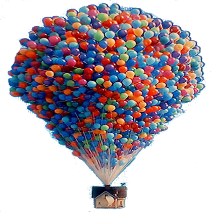 Up house png. Pixar balloon roblox