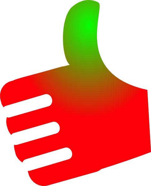 Up vector background. Thumb red green no