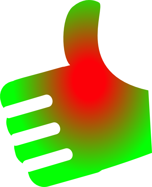 Thumb vector up and down. Red green no background