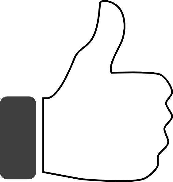 Thumbs banner freeuse. Up vector black and white png freeuse