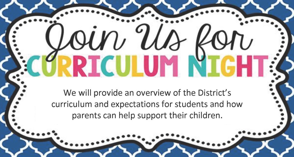 Upcoming events clipart curriculum night.