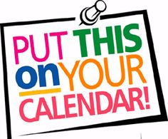 upcoming events clipart training calendar
