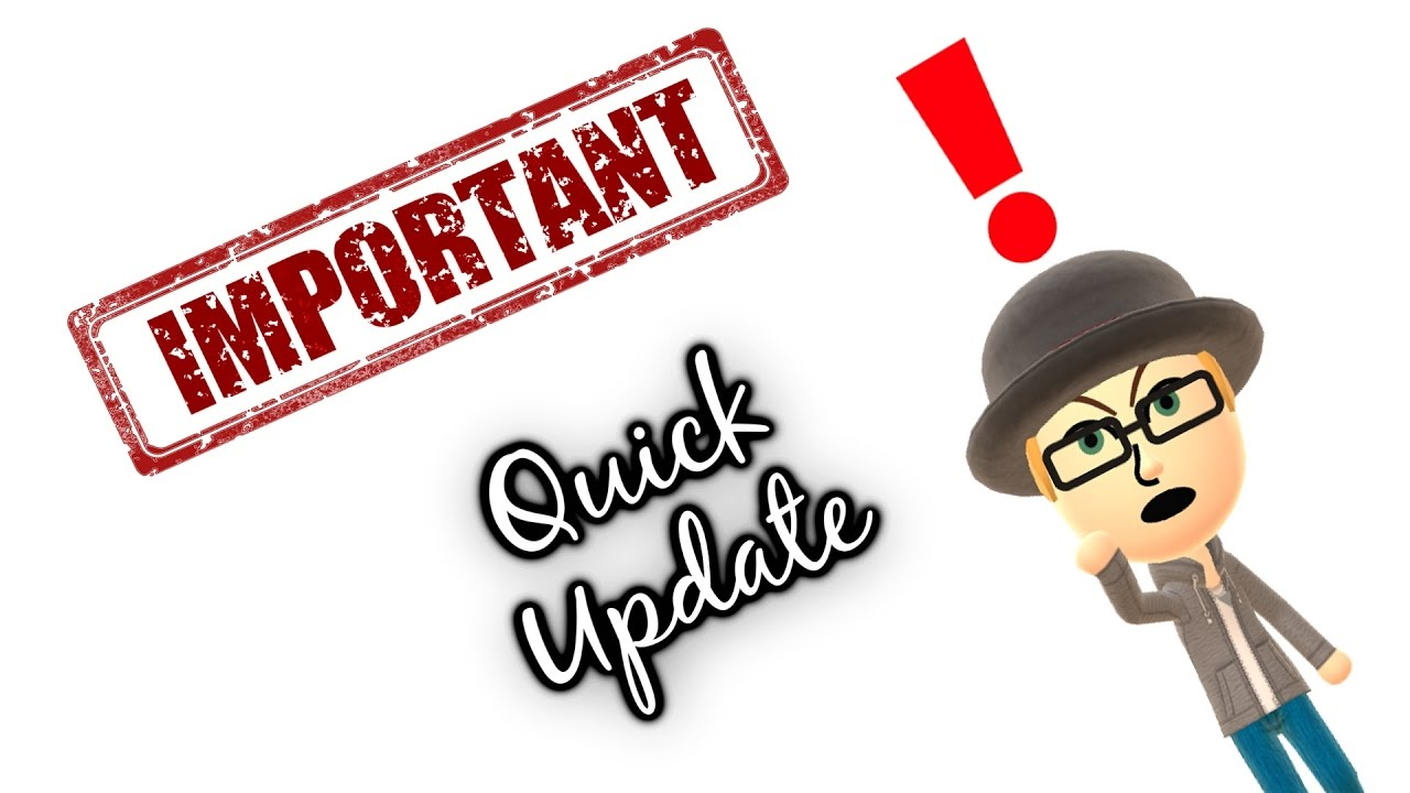 Update clipart important update. A quick youtube
