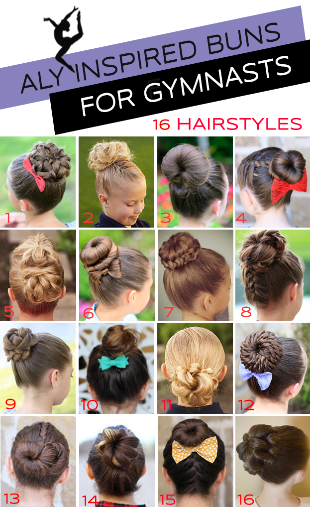 Updo clip pin. Gymnastics hairstyles for competition