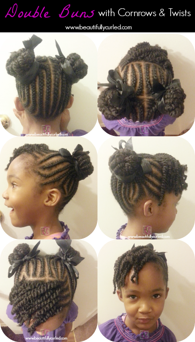 Updo clip curly hair. Beautifully curled double buns