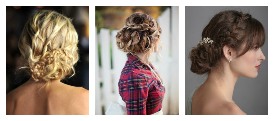 Updo clip classic wedding. Updos with braids braided