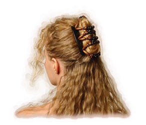 Updo clip fine hair. Half up style in
