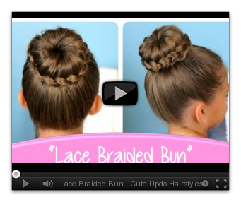 Updo clip top. Lace braided bun cute
