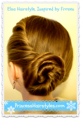 Updo clip princess. Elsa hairstyle tutorial inspired
