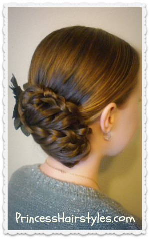 Updo clip prom. Triple lace braid hairstyles