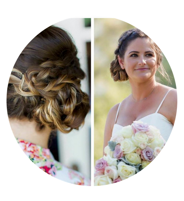 Updo clip wedding hair. About wedlocks bridal she