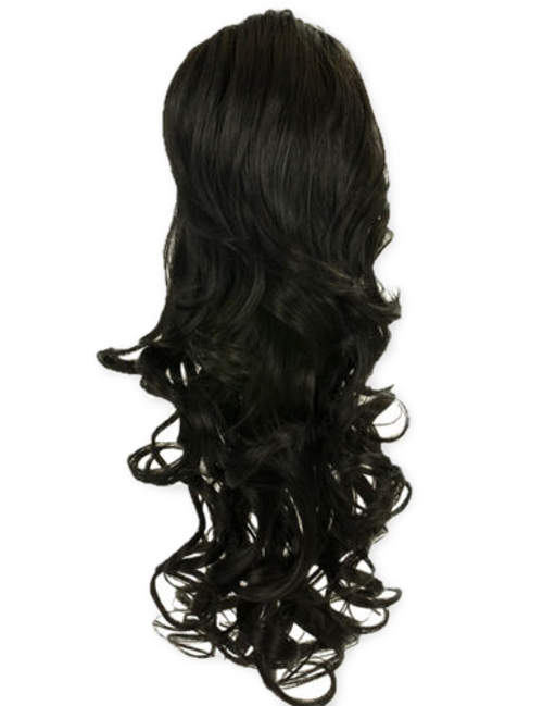 Updo clip white hair. Koko blossom in drawstring