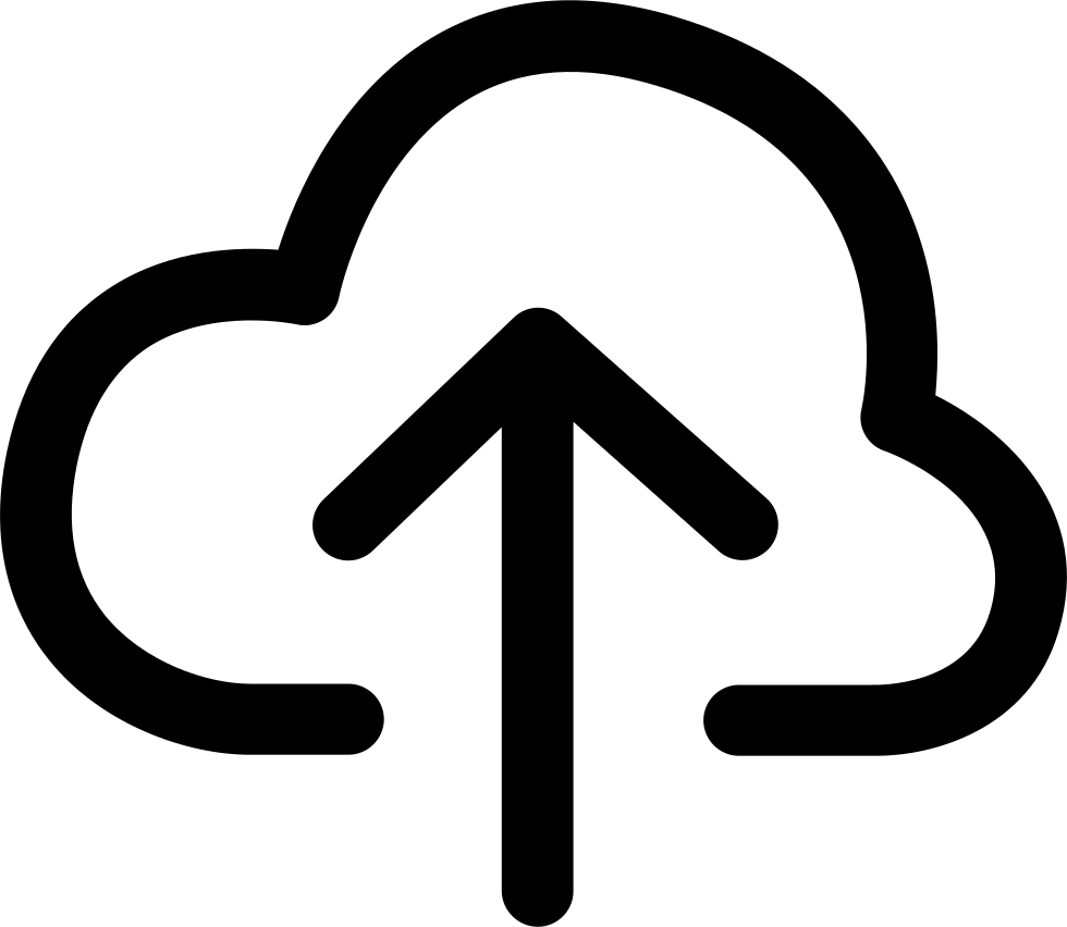 Upload svg cloud. Arrow png icon free