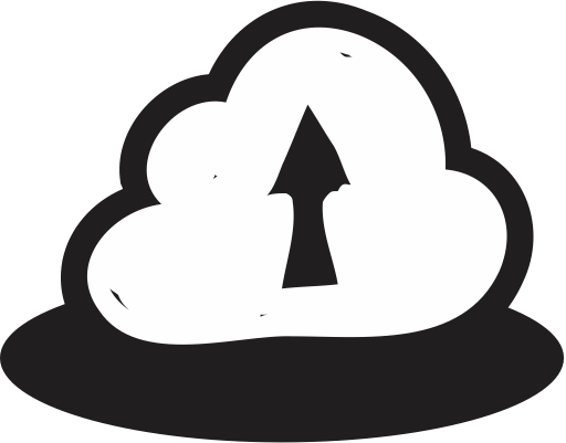 Upload svg cloud. Mixed glyph icon png
