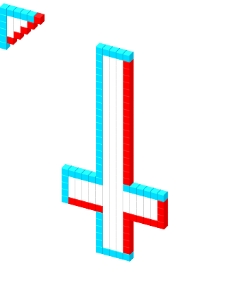 Upside down cross png. D cursor view