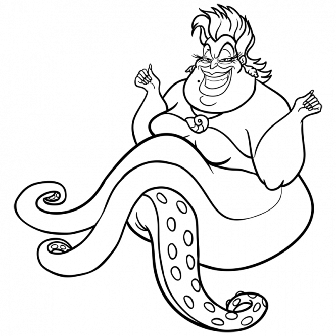 Ursula svg drawing. How to draw mermaids