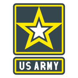 Military svg icon. Us army filled free