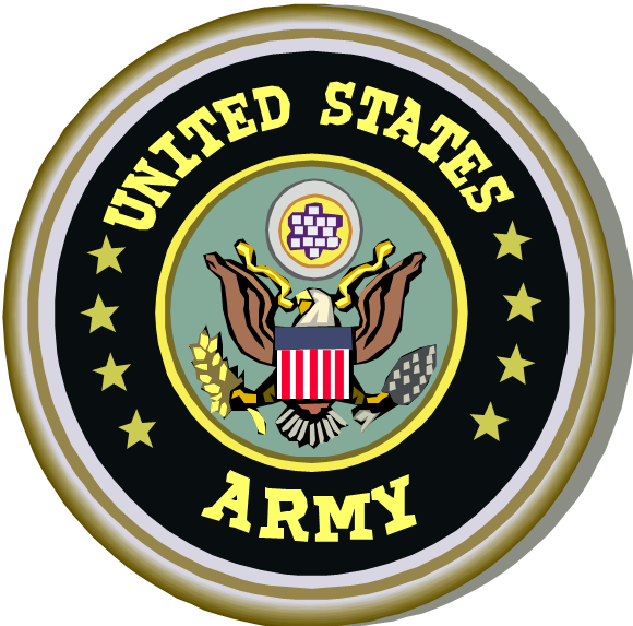 Badge transparent army. United states logos of