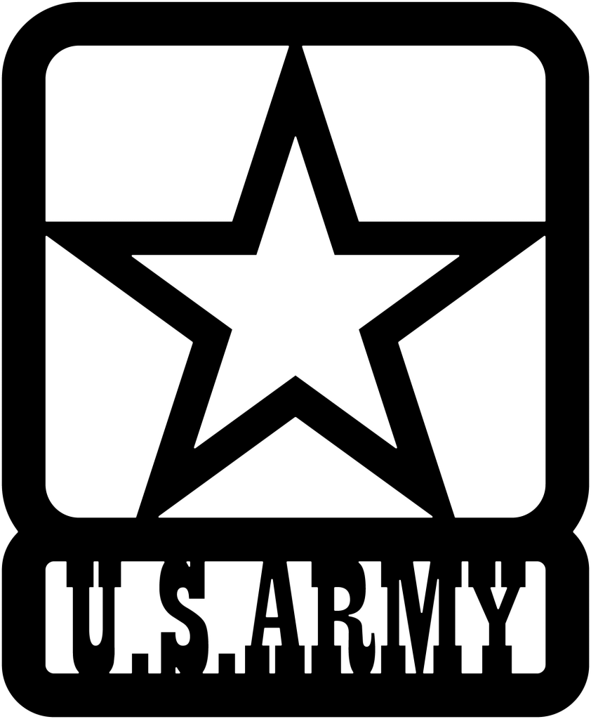 Us army star png. Dxf file dxfforcnc com