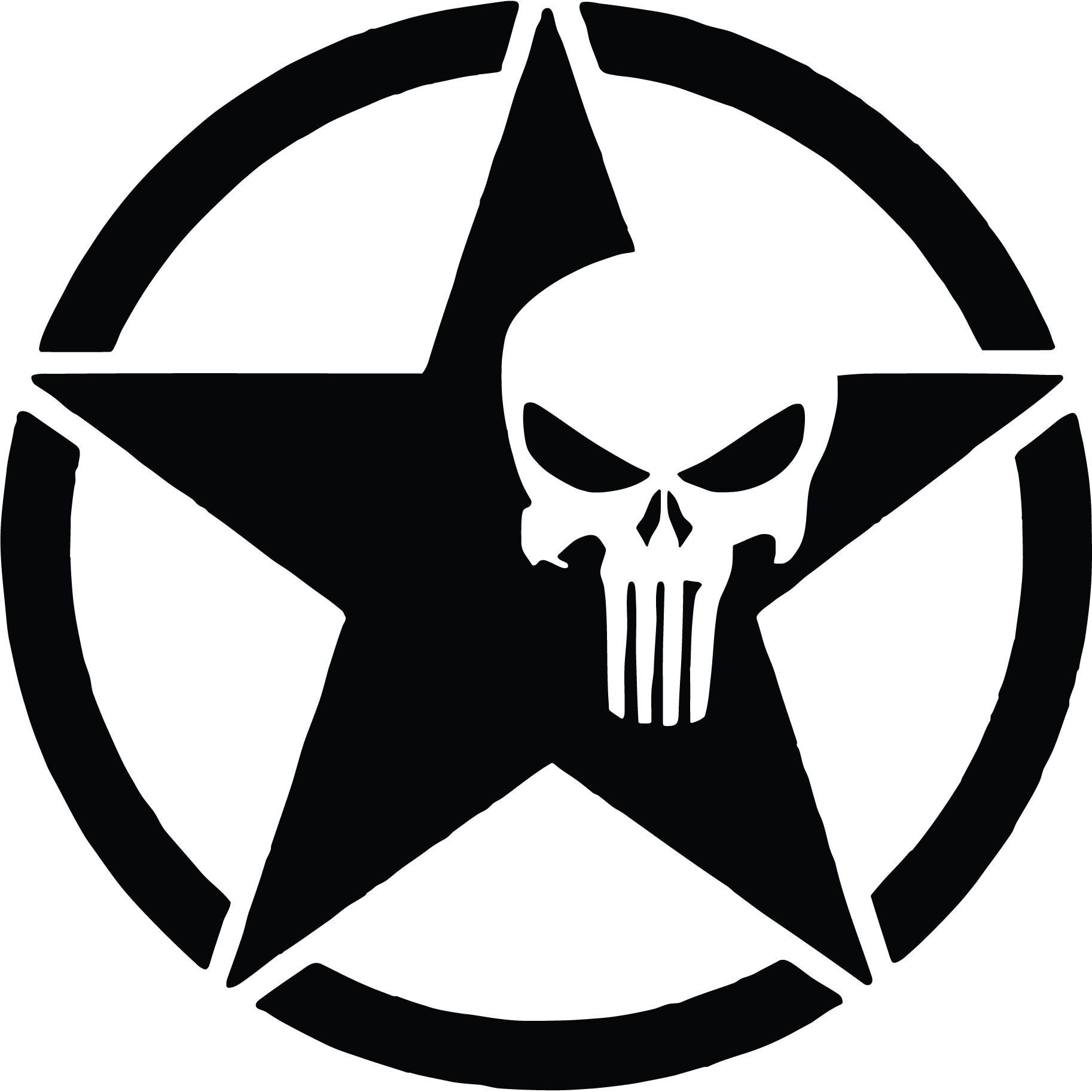 Us army star png. Punisher skull vinyl graphic
