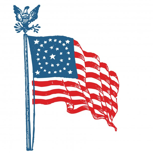 Us clipart. American flag free stock