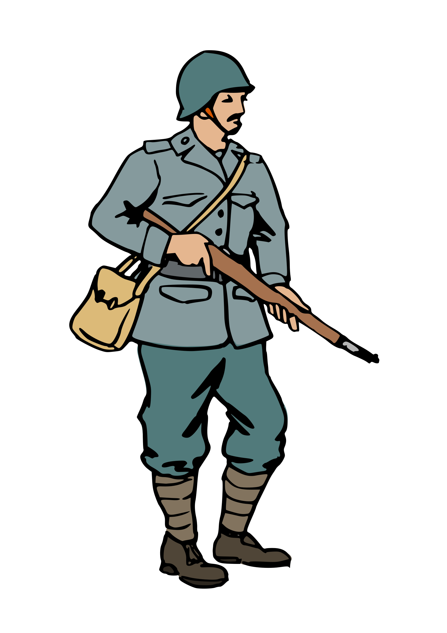 Us clipart soldier soldier. Ww silhouette at getdrawings