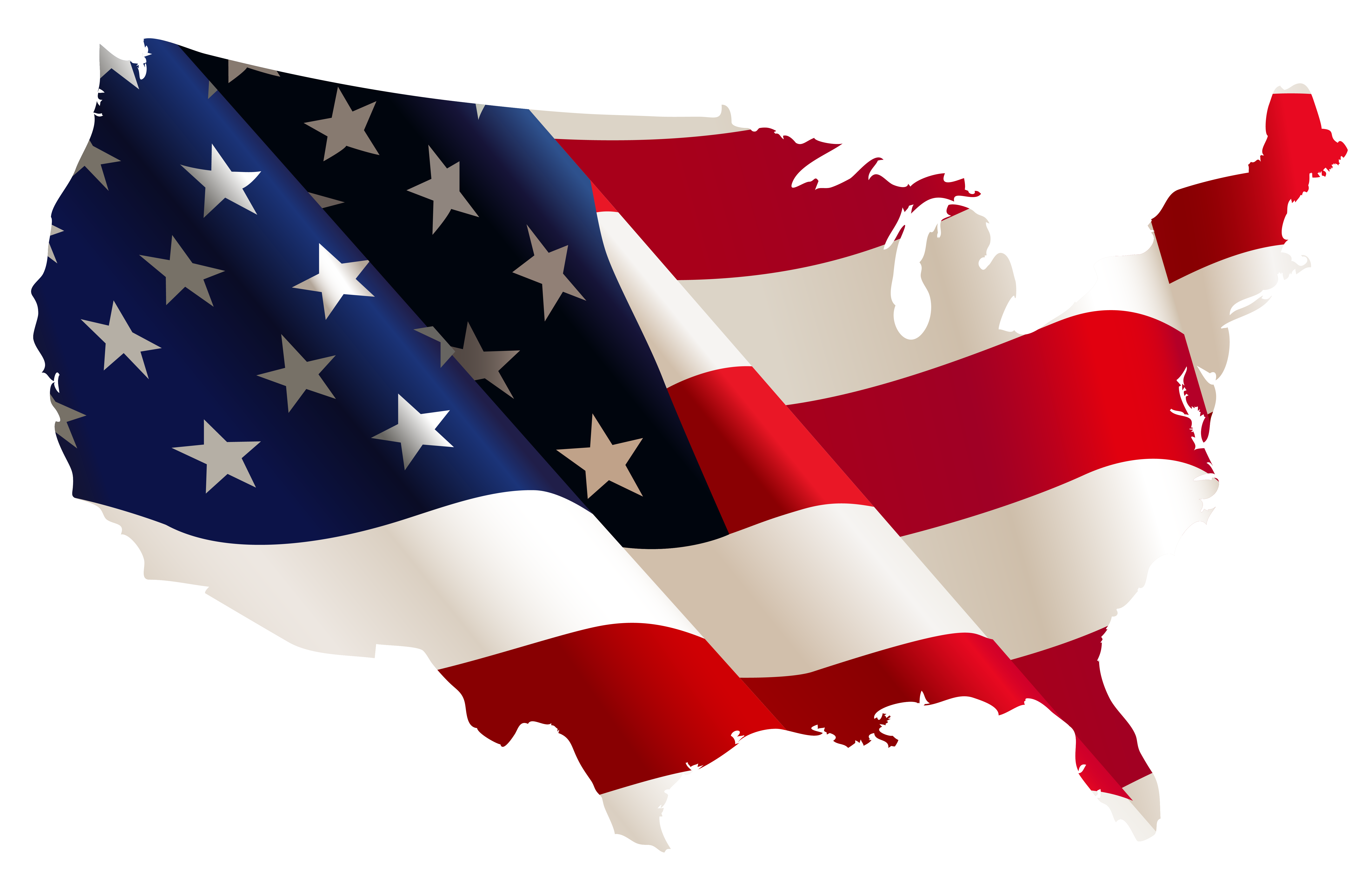 Us clipart transparent. Usa flag map png