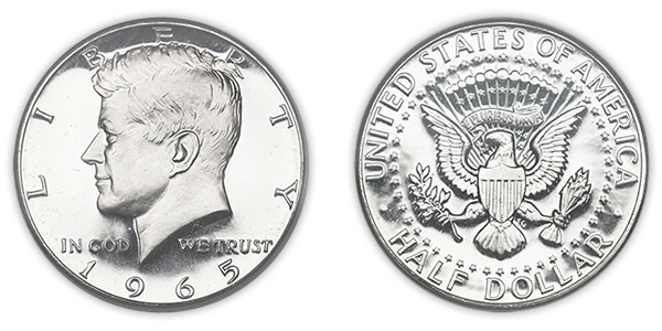 Us coins png. American silver coin transparent