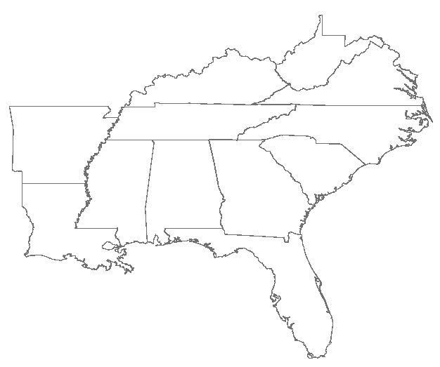 Us drawing blank. Southeast map websbages com