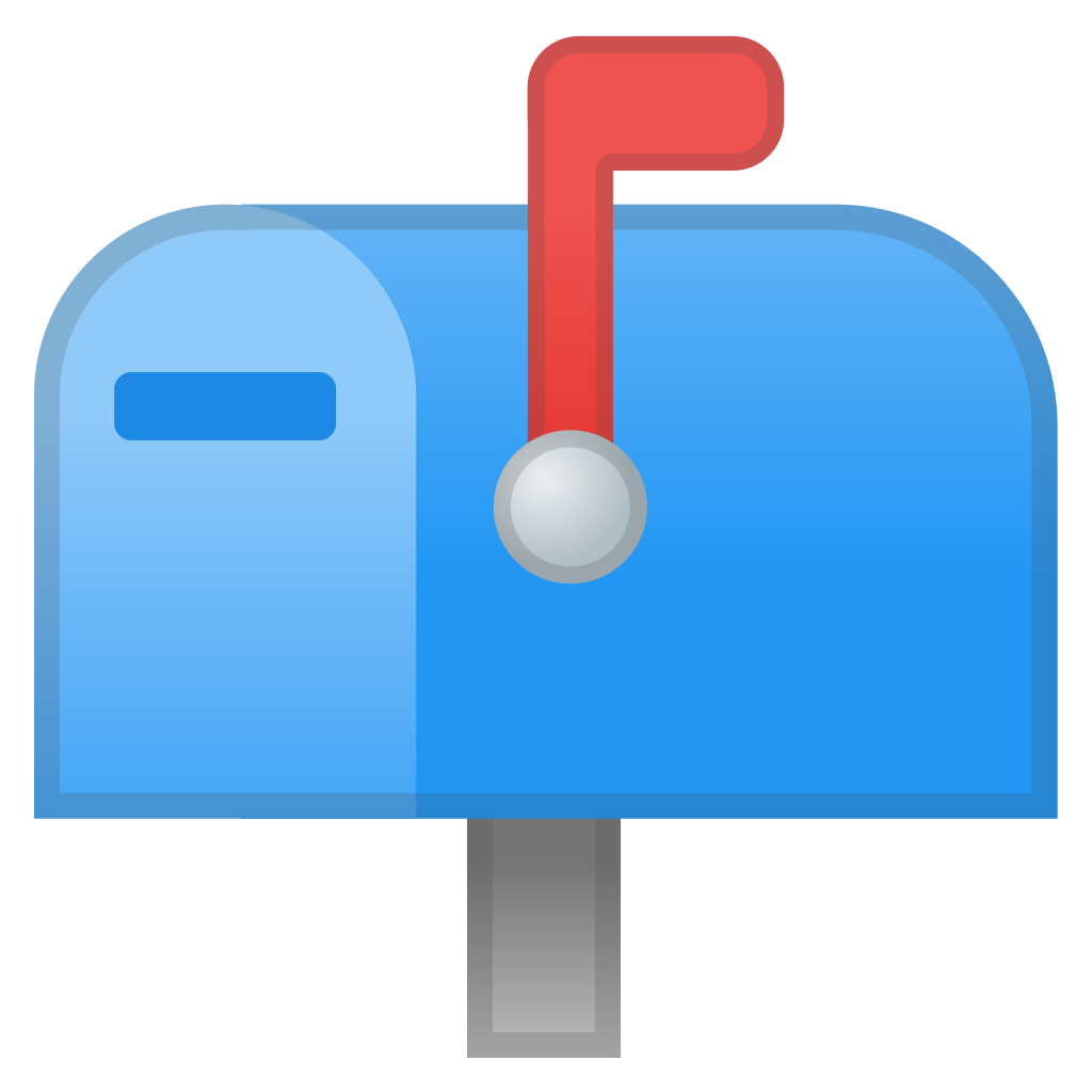 Us mailbox png. Closed with raised flag