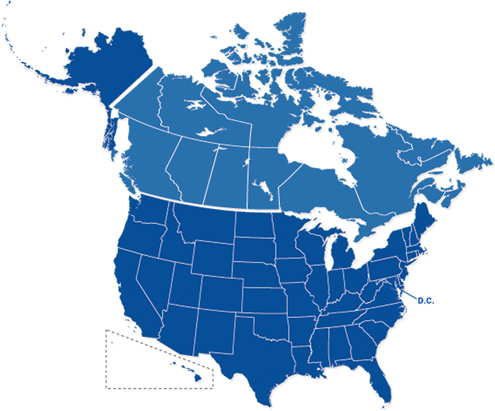 Us vector canada. Download map of and