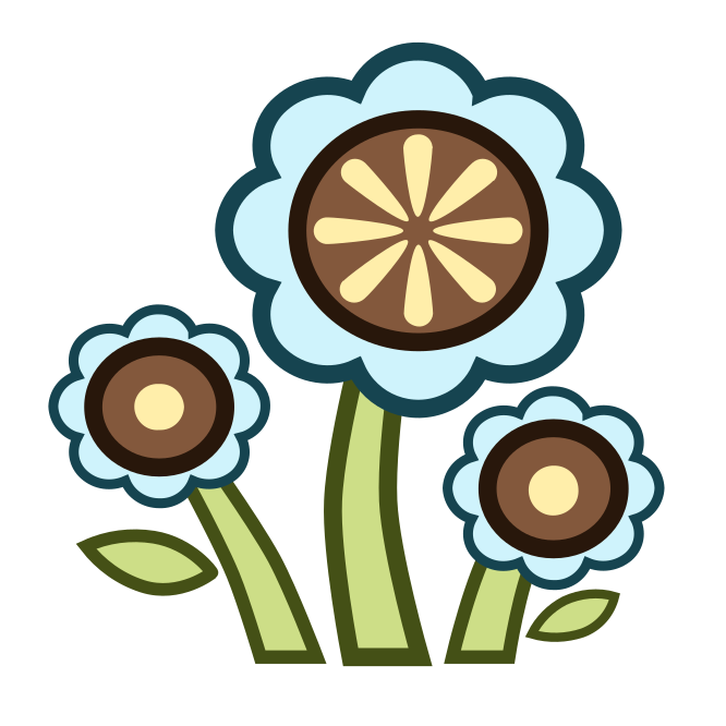 Us vector cartoon. Flowers to make your