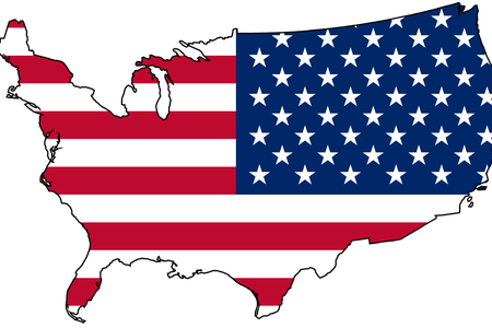 Us vector shutterstock. Usa map icon full