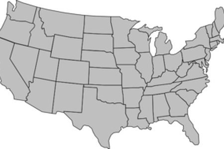 Us vector silhouette. Usa map outline path