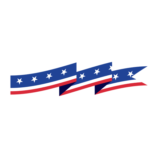 American vector ribbon. Flag of the united