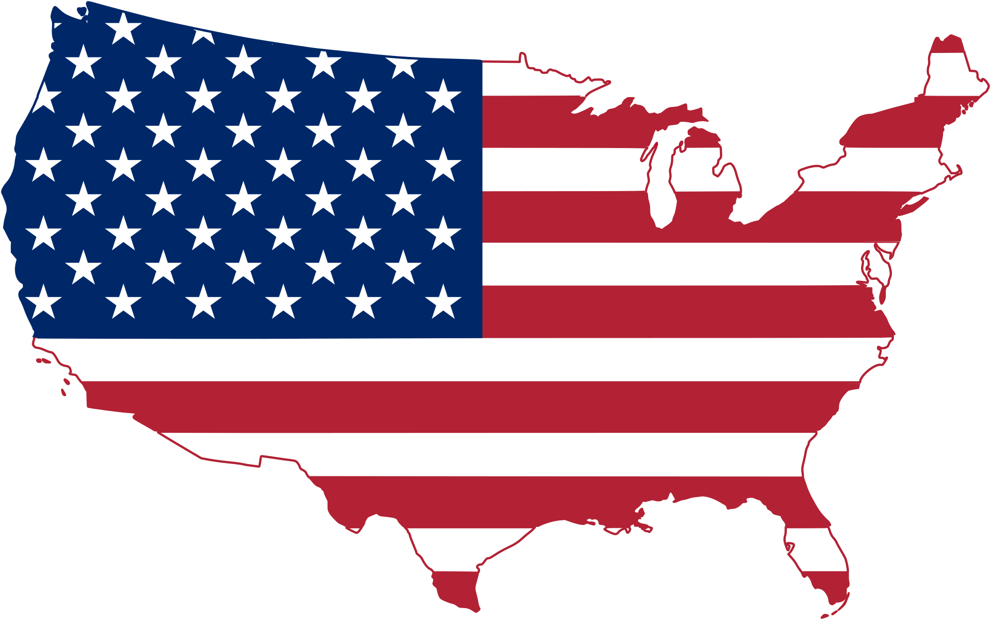 Usa flag map png. File of the united