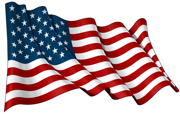 Flag usa png. Waving transparent stickpng objects