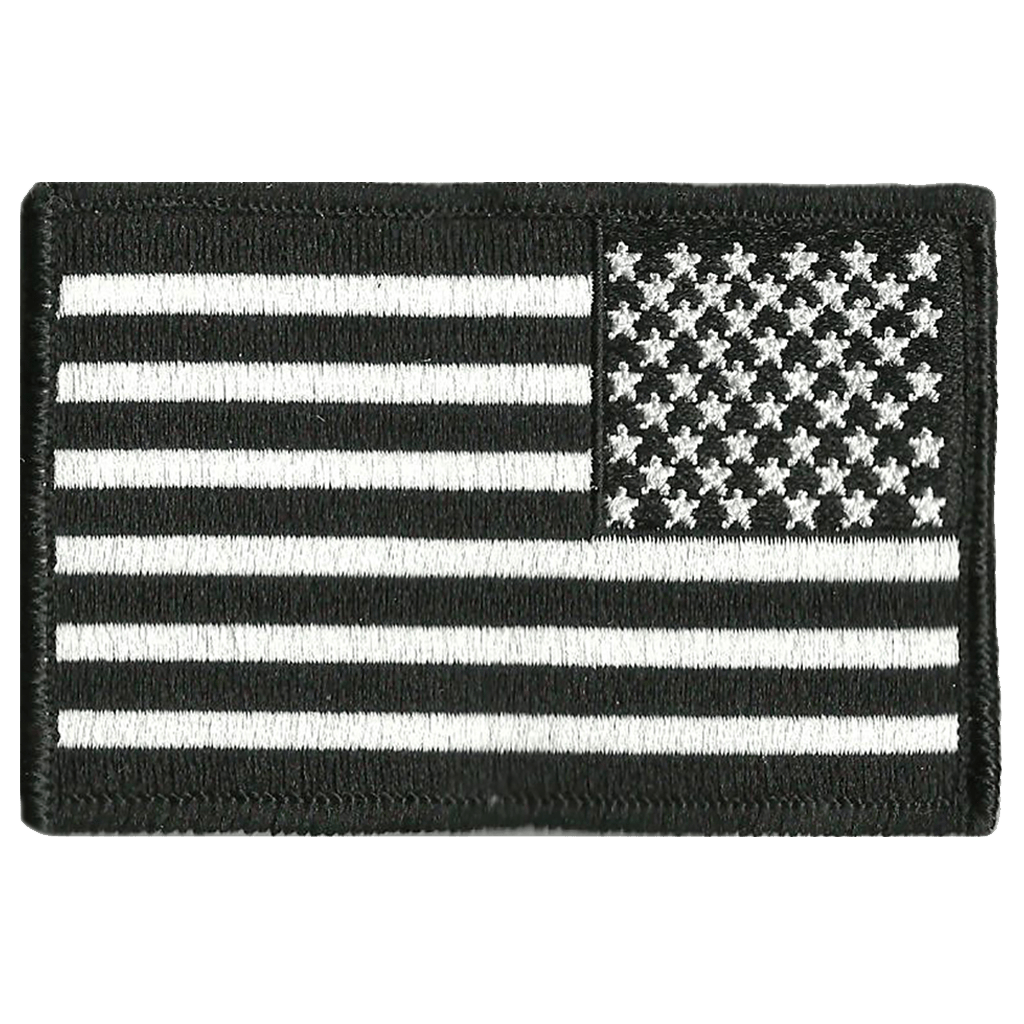 Usa flag png black and white. X reverse patch