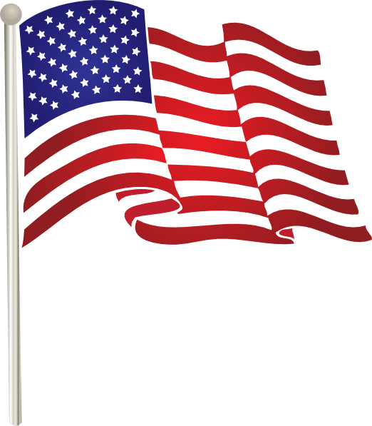 Usa flag transparent png. Illustration american stickpng
