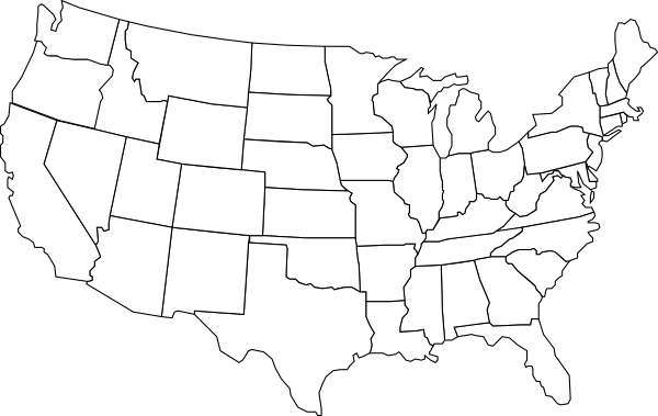 Usa map black and white png. U s clip art