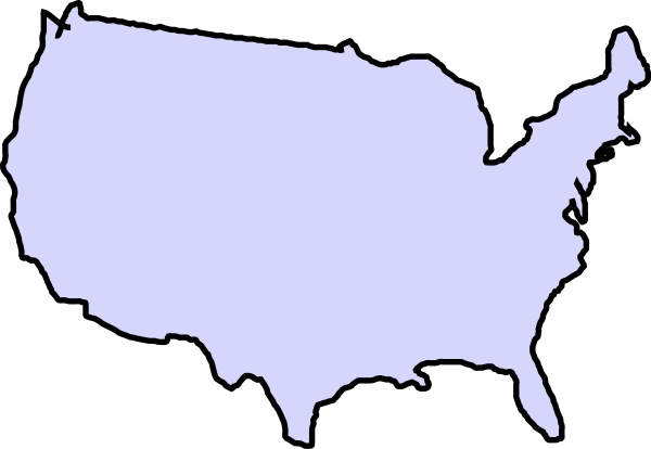 Us vector map usa outline. Grey clip art at