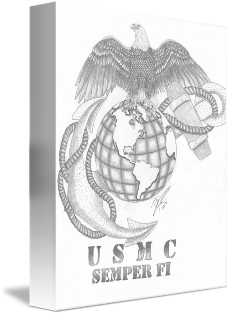 Marine corps tribute by. Usmc drawing clip black and white library